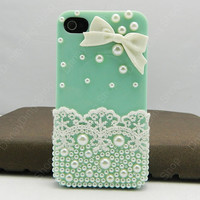 Lace Bow  case  iPhone case iPhone 4 case iPhone 4s case iPhone cover