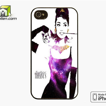 Audrey Hepburn Breakfast At Tiffany iPhone 4S Case Cover by Avallen