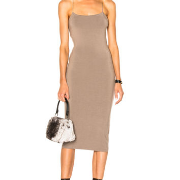 T by Alexander Wang Modal Spandex Strappy Cami Dress in Taupe   FWRD