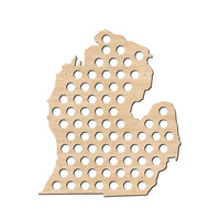 Michigan Beer Cap Map - Holds Craft Beer Caps - Great for Man Cave or Guy Gifts - MI Beer
