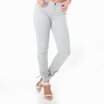 Classic Skinny Pants In Heather Grey