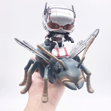Marvel Avengers AntMan Riding Wasp Thony Super Hero Ant-Man with Bobble Head Vinyl Dolls Figure Toys
