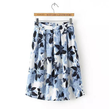 Strong Character Design Stylish High Rise Print Skirt Women's Fashion Dress Umbrella [5013300996]