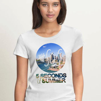 5 Seconds of Summer ,shirt  ,Women ,Logo17 ,Tee , 5SOS ,Shirts ,5sos ,Summer ,Shirt ,Women T Shirt