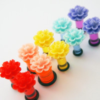 Glamsquared — Double Layer Flower Acrylic Plugs