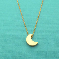 Gold/ silver, crescent, moon, necklace