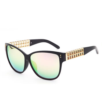 Stylish Sunglasses Cats Plaid Mirror [4915059716]