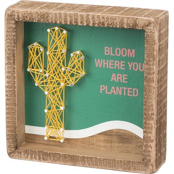Bloom Where You Are Planted Inset String Art