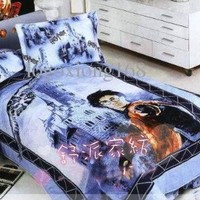 Harry Potter Twin Duvet Cover, Sheet and Pillowcase 3-Pc Bedding Set 100% Cotton