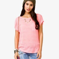 Striped Burnout Tee
