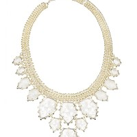 Gretchen Statement Necklace in Crackle Crystal - Kendra Scott Jewelry