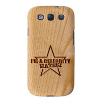 Carved on Wood Effect_Celebrity Hater Full Wrap High Quality 3D Printed Case for Samsung Galaxy S3
