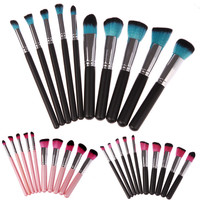 Hot 10pcs Makeup Brushes Tools Foundation Blending Blush Brush Essential Kit Cosmetic Brushes Set
