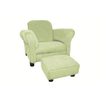 Komfy Kings, Inc 11215 Deluxe Lime Micro Tween Chair and Ottoman
