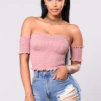 Surrounded By Your Embrace Top - Mauve