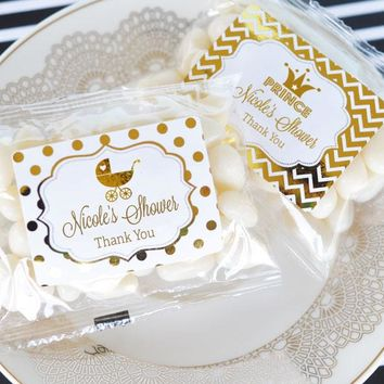 Personalized Metallic Foil Jelly Bean Packs - Baby