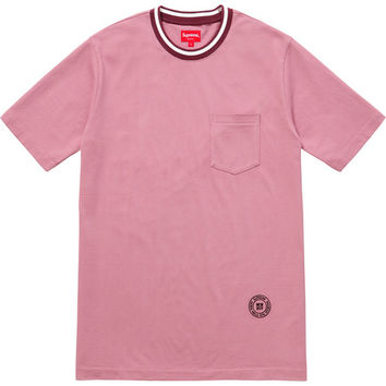 Supreme: Rib Pocket Tee - Dusty Pink