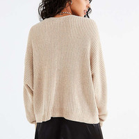 UO Oversized Chenille V-Neck Sweater | Urban Outfitters