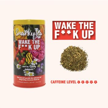 Snarky Tea - Wake The Fuck Up Tea - 15 Pyramid Sachets