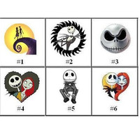 Nightmare Before Christmas Nail Decals Set of 20 - Choose from 6 designs