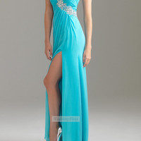 Turquoise Floor Length Homecoming Dress A-line Long Prom Dresses