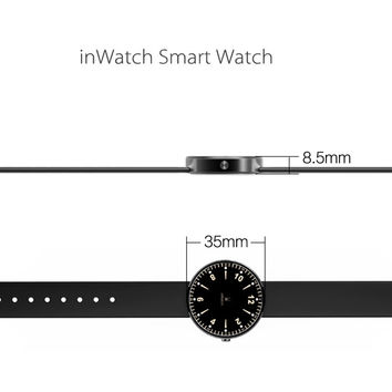 inWatch Smart Watch - Bluetooth 4.0, 12 LED, Pedometer, Sleep Monitor, Support iOS + Android (Black)