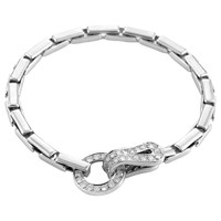 Cartier Agrafe Diamond Gold Hook Bracelet