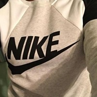 "shosouvenir : ""NIKE"" Fashion Letter Print Round Neck Top Pullover Sweater Sweatshirt"