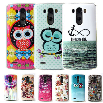 """G3 D855 Cartoon TPU Silicone Soft Case For LG Optimus G3 D855 D856 D857 D859 D858 5.5"""" Cover Cell Phone Protect ShockProof Bag"""