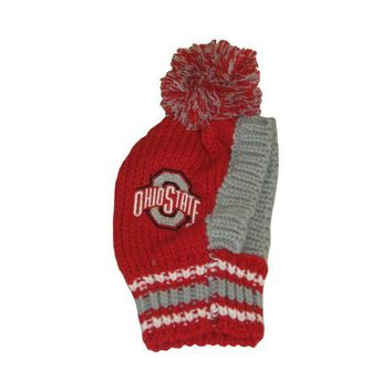 DCCKIV4 Ohio State Buckeyes Pet Knit Hat