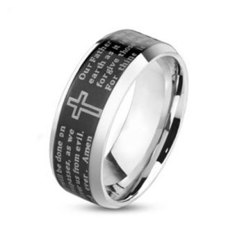 Copy of Laser Etched 'The Lords Prayer' Stainless Steel Wedding Band
