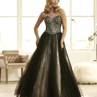 Mac Duggal 48249H Jeweled Ball Gown Prom Dress $499