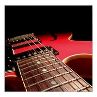 Electric Guitar Close Up - Original Red