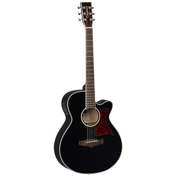 Tanglewood TW4 BK Folk Cutaway Acoustic Electric Guitar