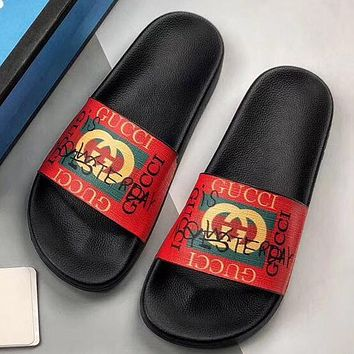 Trendsetter Gucci Women Men Fashion Casual Slipper Shoes