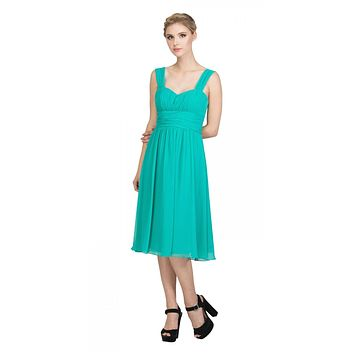 Jade Short Wedding-Guest Dress Ruched-Bodice