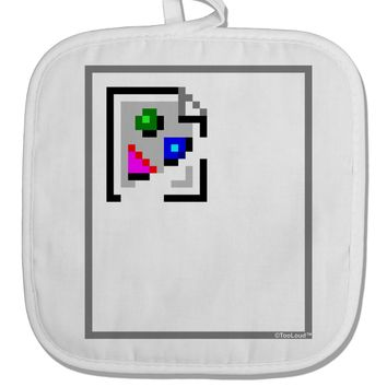 Broken Image Link - Tech Humor White Fabric Pot Holder Hot Pad by TooLoud