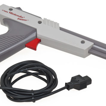 Nintendo Official OEM Zapper NES Grey Light Gun Controller NES-005 1985
