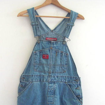 20% OFF SALE...90s Jean Bib Overalls // Carpenter Pants // Jeans. Bibs. women's size S