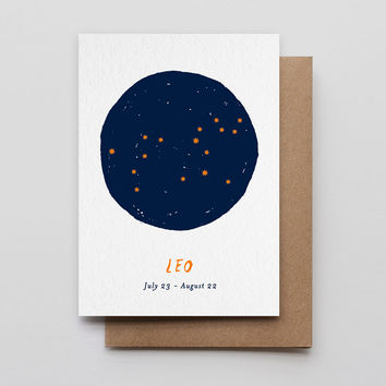 Leo Star Sign Card