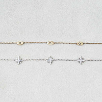 AEO Star & Evil Eyes Chain Choker Duo , Mixed Metal