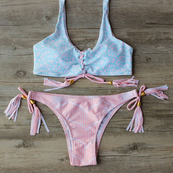 Pink Bandage Bikini Swimwear Swimsuit  Beach Wear Bathing Suit Bikinis