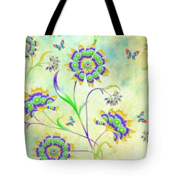 "Floral Flirty and Fun Tote Bag 18"" x 18"""