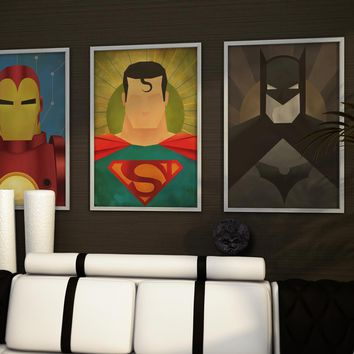 Superhero Home Decor Canvas Art Prints