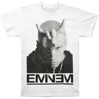 Eminem Men's  Finger Horns T-shirt White Rockabilia