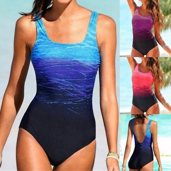 Women Swimming 2019 Plus Size Brazilian Padded Swimsuit Monokini Push Up Bikini Sets Swimwear Sexy One Piece Suit Maillot#es