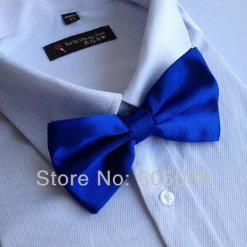 ac NOOW2 Solid Men's Bow Tie for man blue bowtie