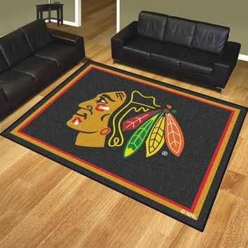Chicago Blackhawks 8x10 Rug