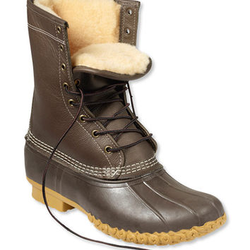 Women's Bean Boots by L.L.Bean, 10 Shearling-Lined | Free Shipping at L.L.Bean