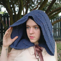 Hand Knitted Lord of The Rings Inspired Hooded Cowl